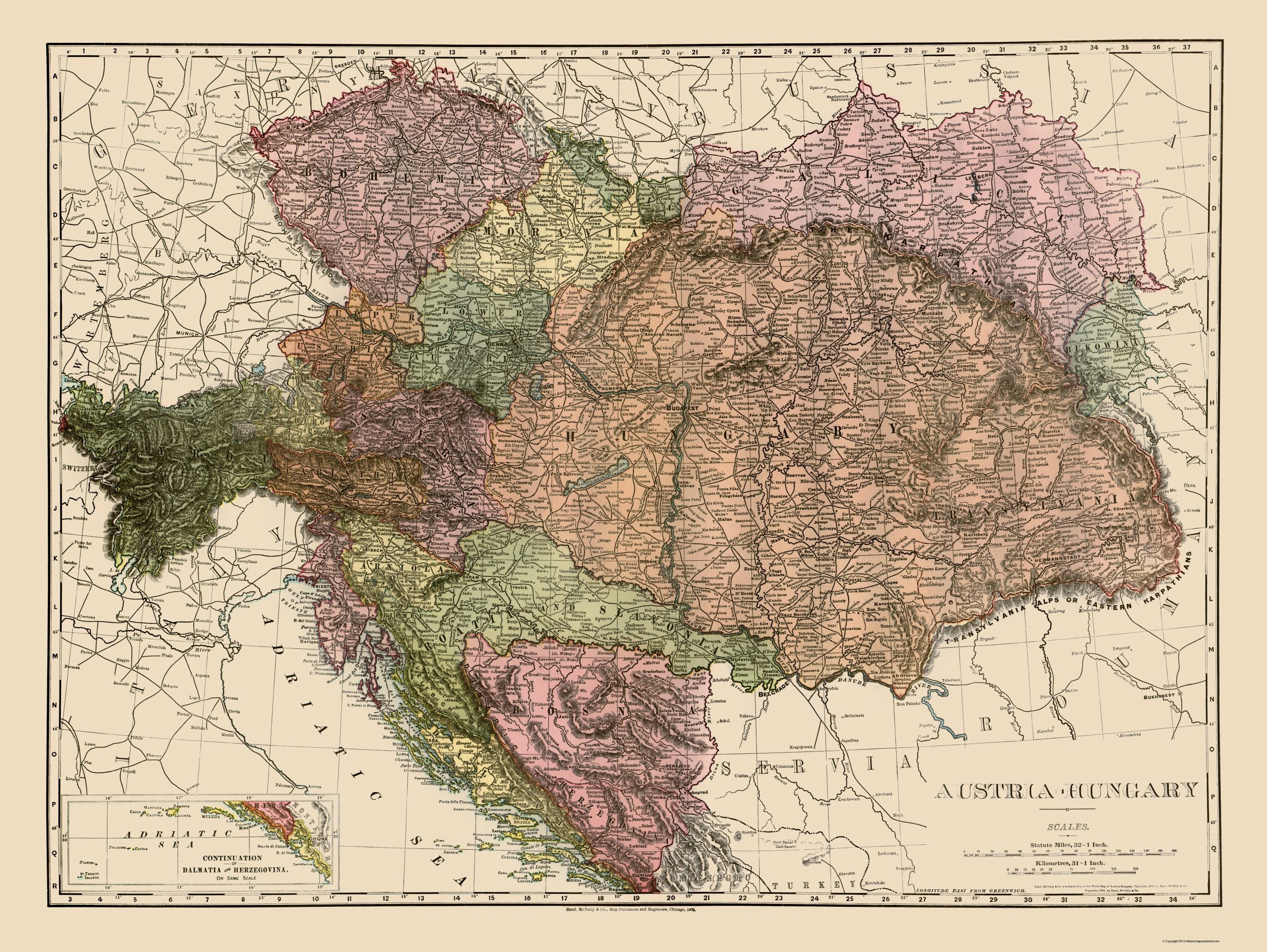 austria-hungary map